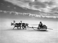nenets people. yamal peninsula. siberia. russia. [single sledge] by sebastião salgado